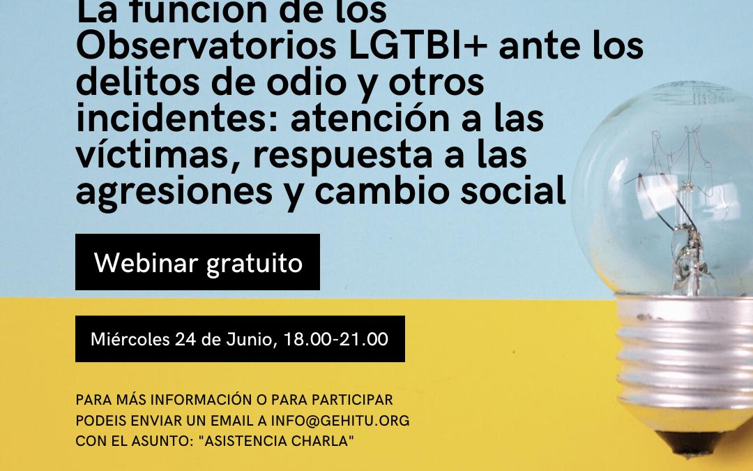 WEBINAR (ZOOM) ENCUENTRO DE OBSERVATORIOS LGTBI